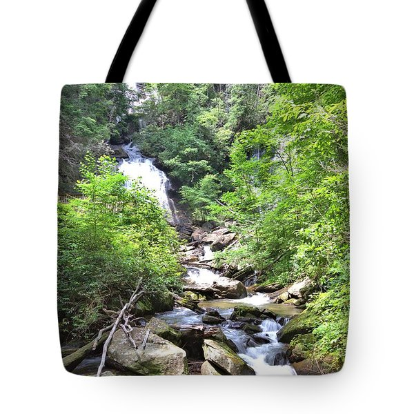 Smith Creek Downstream Of Anna Ruby Falls - 3 Tote Bag by Gordon Elwell