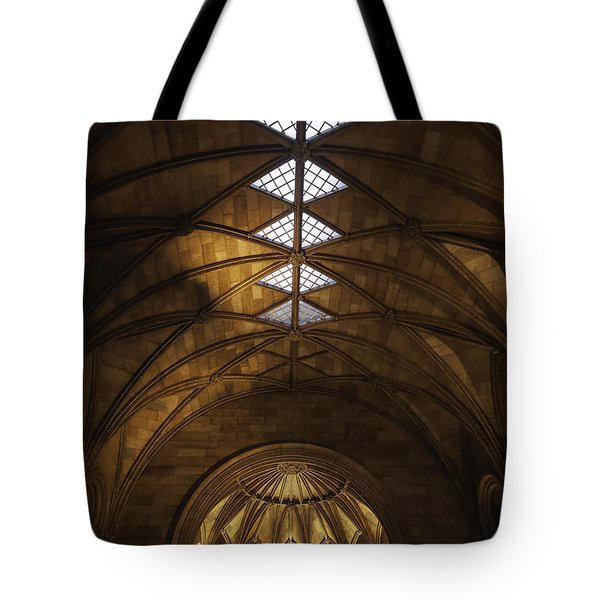 Smithsonian Castle Vaulted Ceiling Tote Bag by Lynn Palmer