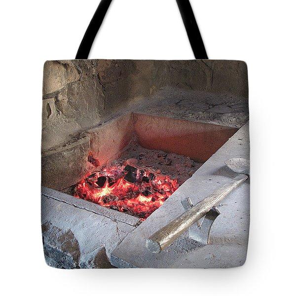 Smithy Hearth Tote Bag by Barbara McDevitt