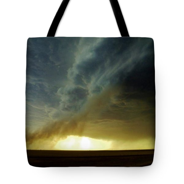 Smoke And The Supercell Tote Bag by Ed Sweeney