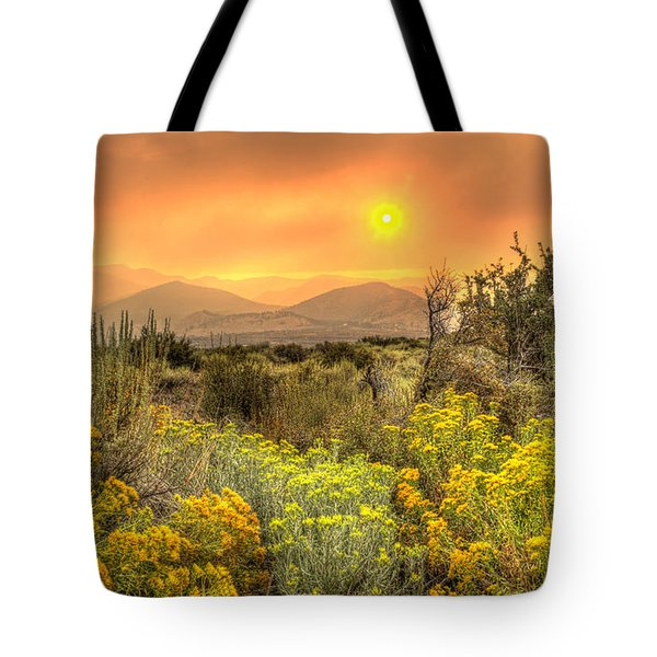 Smoke In The Air Tote Bag by Dianne Phelps
