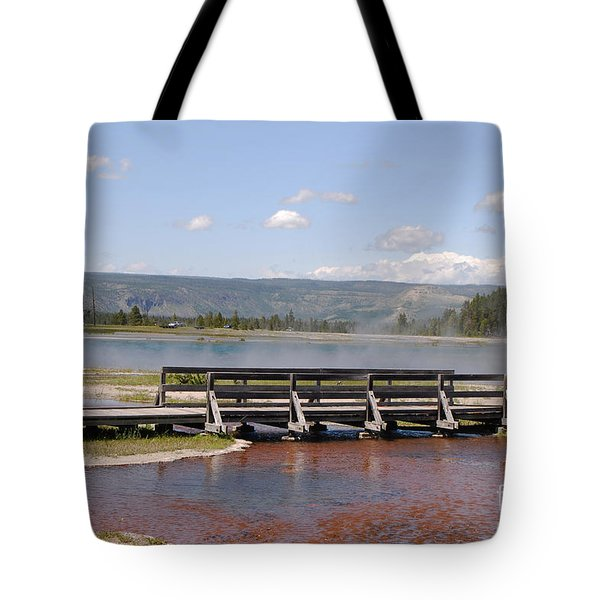 Tote Bag featuring the photograph Smoke On The Water by Mary Carol Story