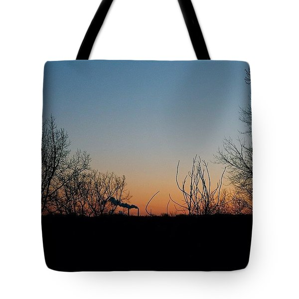 Smoke Stacks In The Distance Tote Bag