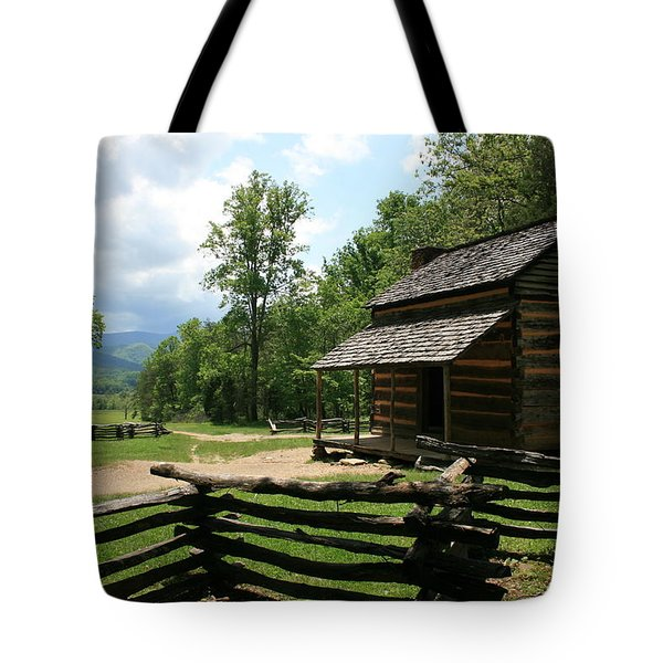 Smoky Mountain Cabin Tote Bag