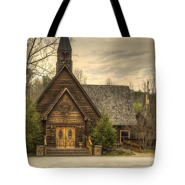 Smokey Mountain Love Chapel 2 Tote Bag