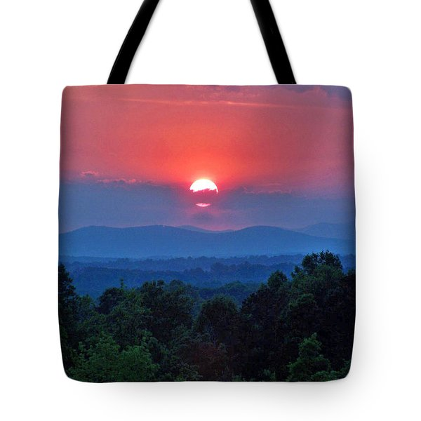 Smokey Mtn Sunset Tote Bag