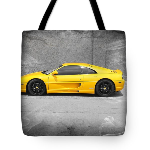 Smokin' Hot Ferrari Tote Bag by Kathy Churchman