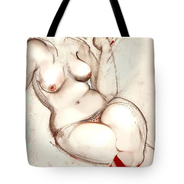 Smokin' Josie  Tote Bag by Carolyn Weltman