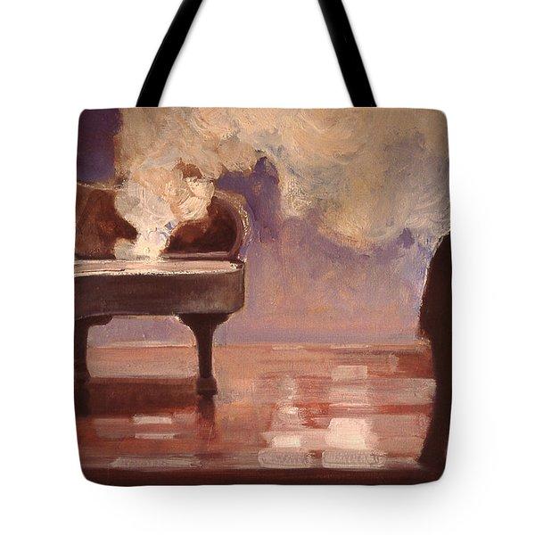 Smokin Piano Tote Bag by Emily Gibson