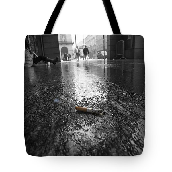Smoking Butt Tote Bag