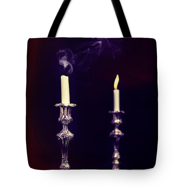 Smoking Candle Tote Bag by Amanda Elwell