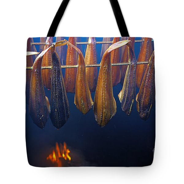 Smoking Fish Tote Bag