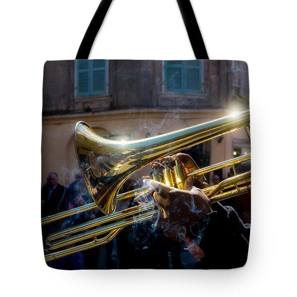 Smoking Hot Trombone Tote Bag
