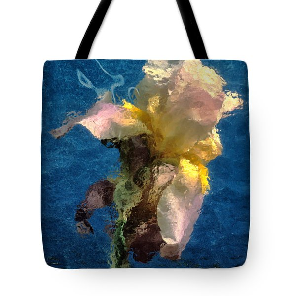 Smoking Iris Tote Bag