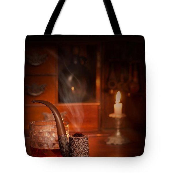 Smoking Pipe Tote Bag by Amanda Elwell