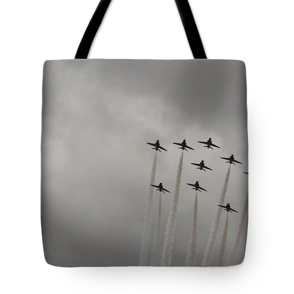 Smoking Planes Tote Bag by Tracey Williams