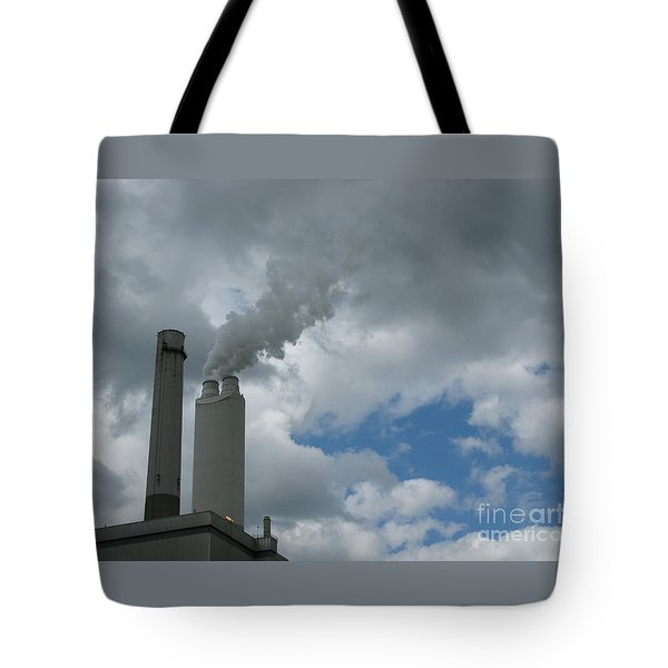 Smoking Stack Tote Bag by Ann Horn