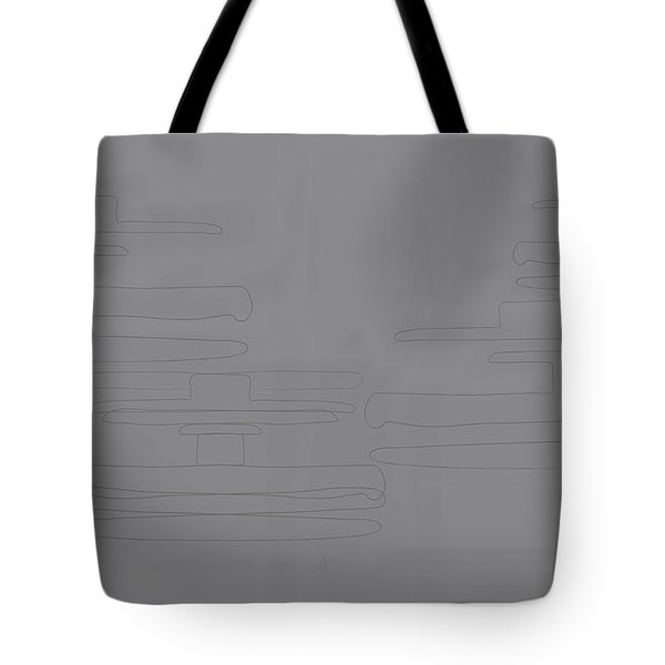 Smoky Cliff Tote Bag