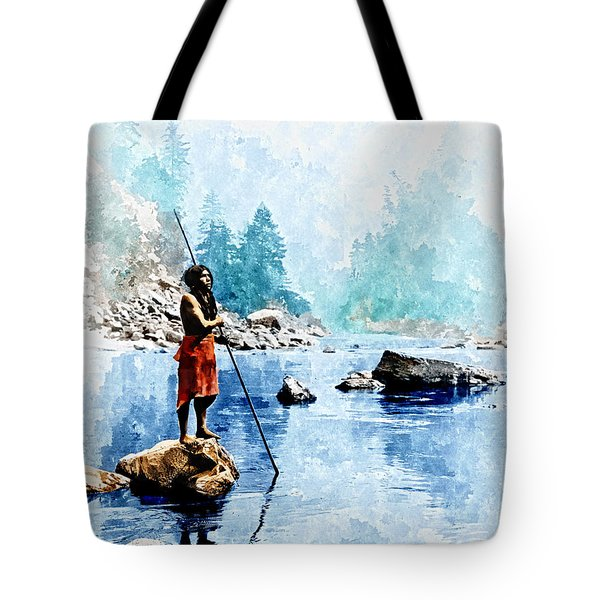 Smoky Day At The Sugar Bowl Tote Bag by Rick Mosher