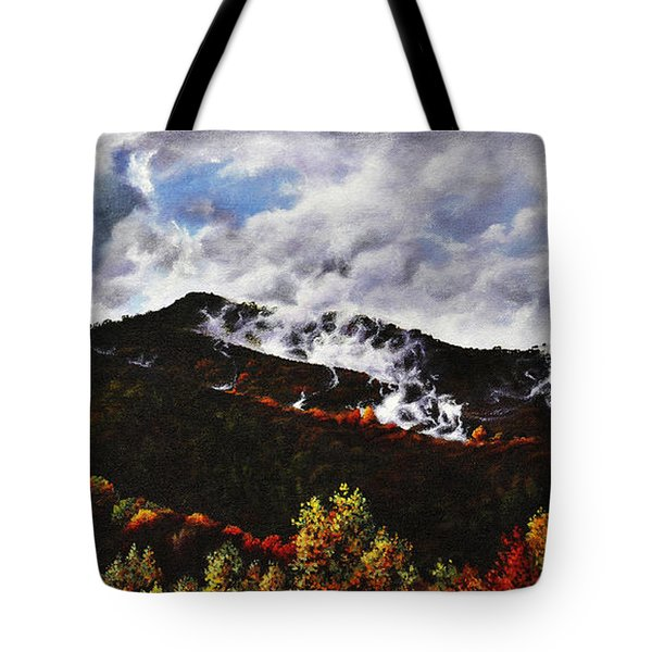 Smoky Mountain Angel Hair Tote Bag