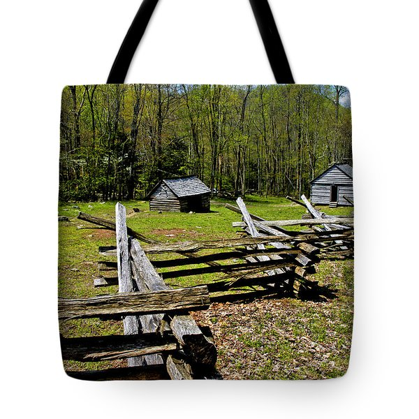 Smoky Mountain Cabins Tote Bag by Paul W Faust -  Impressions of Light