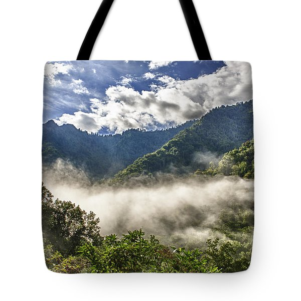 Smoky Mountain Chimney Tops Tote Bag