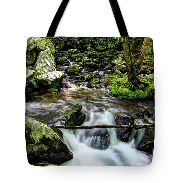 Tote Bag featuring the photograph Smoky Mountain Stream 4 by Mel Steinhauer