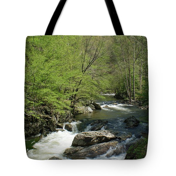 Smoky Mountain Stream Tote Bag by Roger Potts