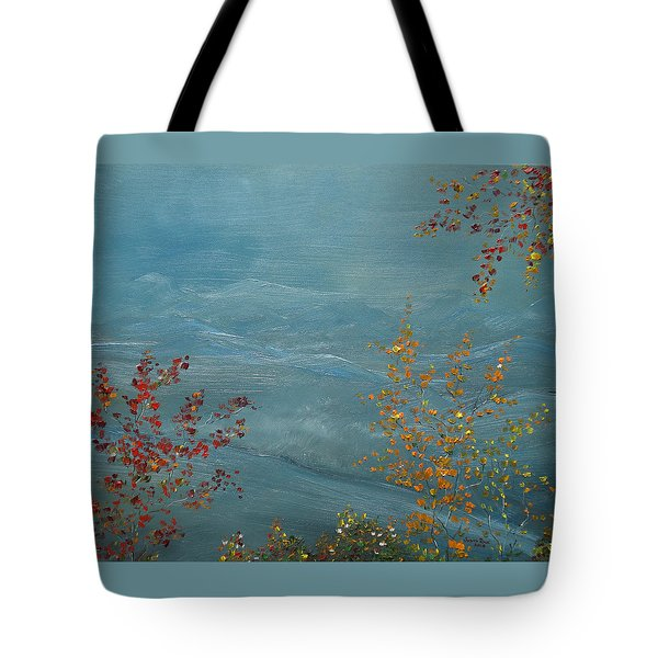 Smoky Mountains In Autumn Tote Bag by Judith Rhue