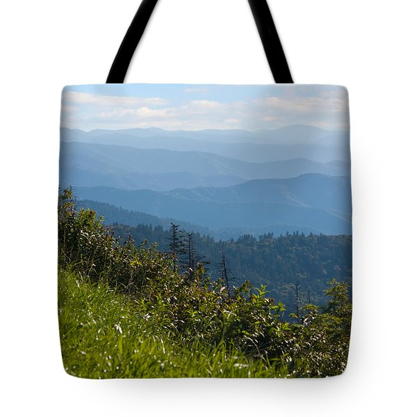 Smoky Mountains View Tote Bag by Melinda Fawver
