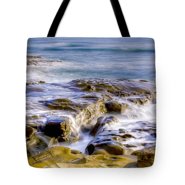 Smoky Rocks Of La Jolla Tote Bag