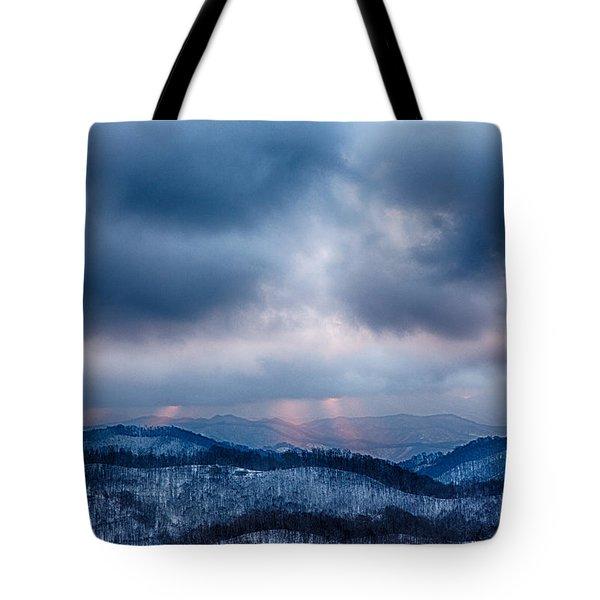 Smoky Sunset Tote Bag by John Haldane