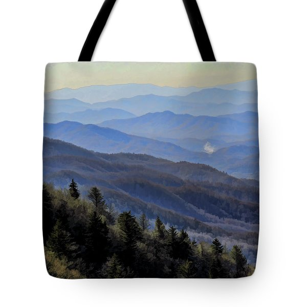 Tote Bag featuring the photograph Smoky Vista by Kenny Francis