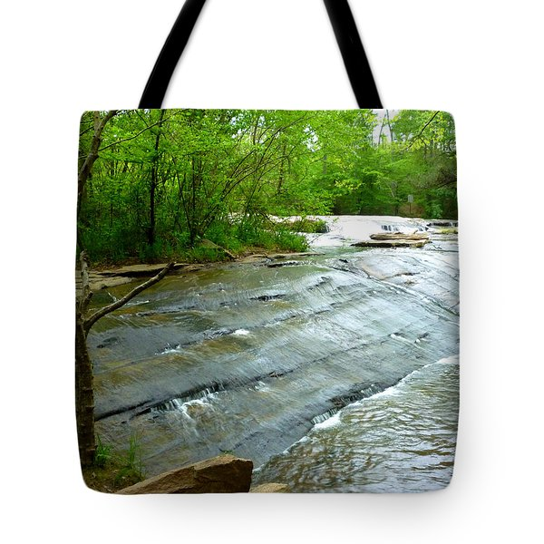Tote Bag featuring the photograph Smooth Waterfall by Pete Trenholm