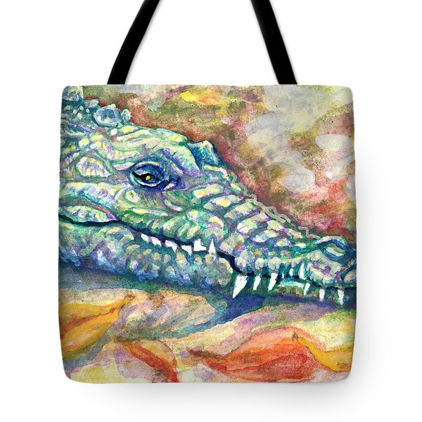 Tote Bag featuring the painting Snaggletooth by Ashley Kujan