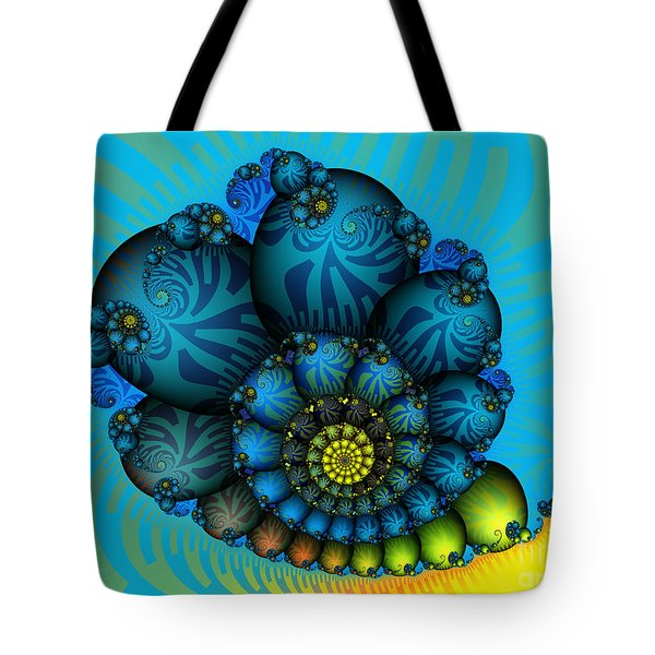 Snail Mail-fractal Art Tote Bag