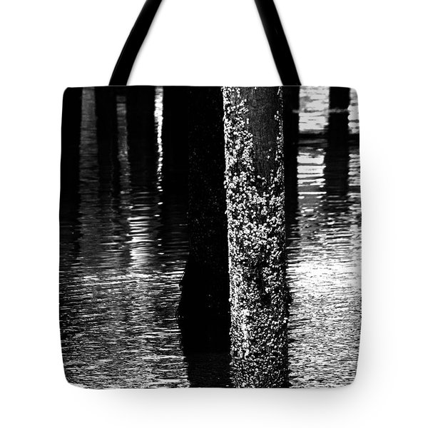 Snails In Black And White Tote Bag