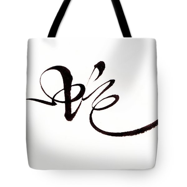 Snake Calligraphy Tote Bag by Oiyee At Oystudio