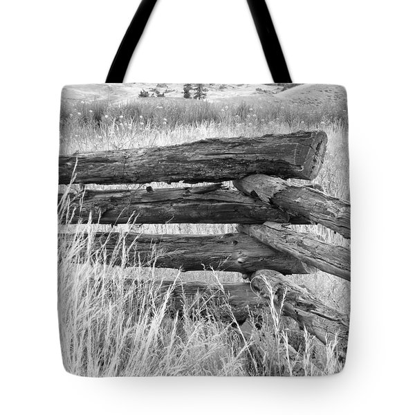 Tote Bag featuring the photograph Snake Fence  by Ann E Robson