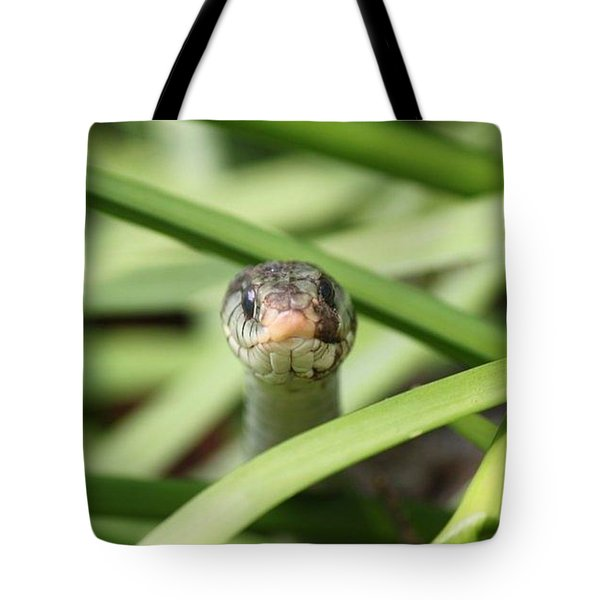 Snake In The Grass Tote Bag by Jennifer E Doll