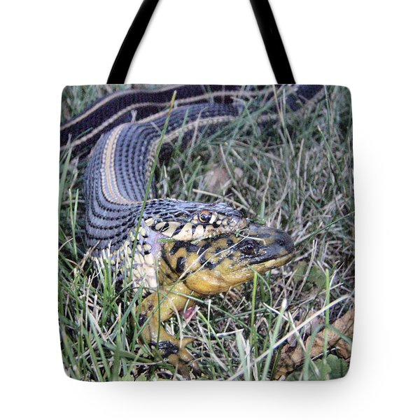 Tote Bag featuring the photograph Snake With Legs by James Peterson