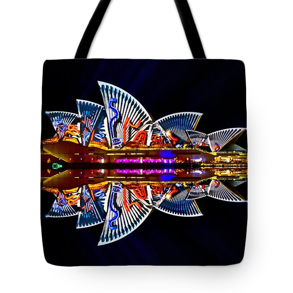 Snakes On The Opera House Tote Bag