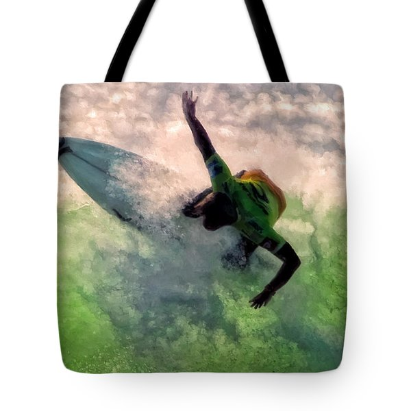 Tote Bag featuring the painting Snap Turn by Michael Pickett