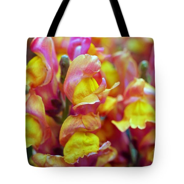 Tote Bag featuring the photograph Snapdragons by Cassandra Buckley