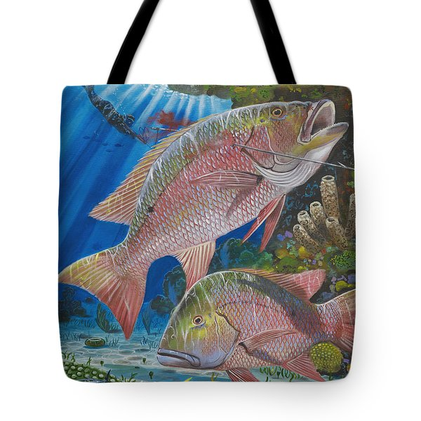 Snapper Spear Tote Bag by Carey Chen