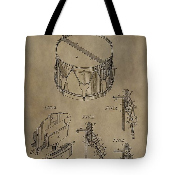 Snare Drum Patent Tote Bag