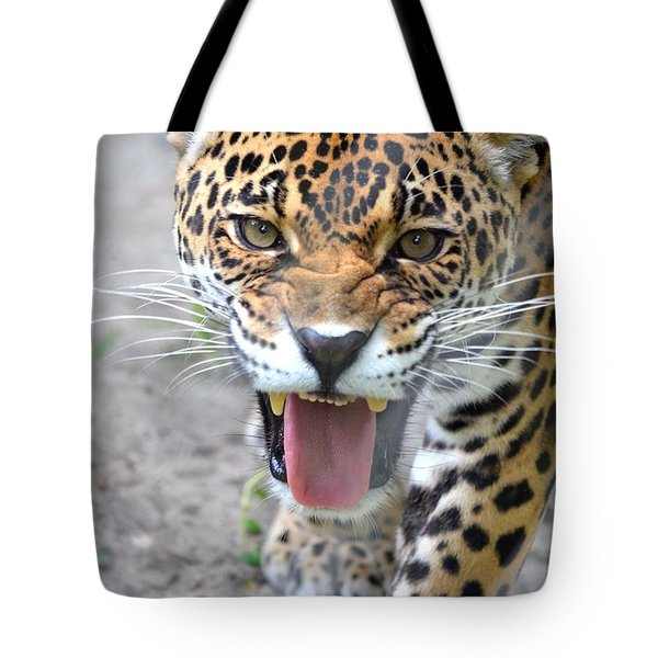 Snarling Jaguar  Tote Bag by Richard Bryce and Family