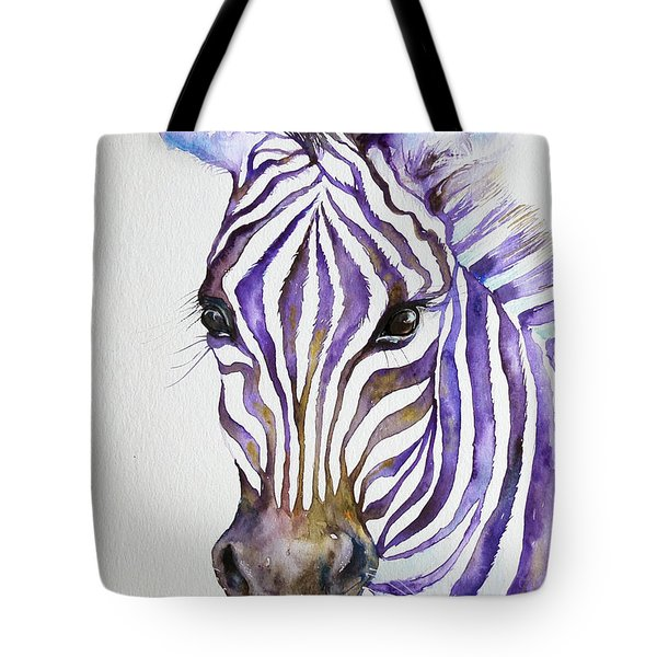 Snazzy_ Purple Stripes Tote Bag
