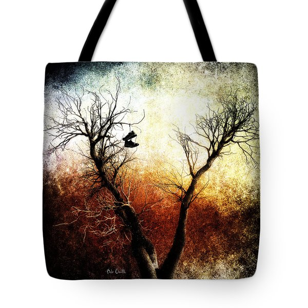 Sneakers In The Tree Tote Bag by Bob Orsillo