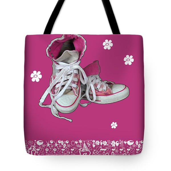 Tote Bag featuring the photograph Sneakers by Randi Grace Nilsberg